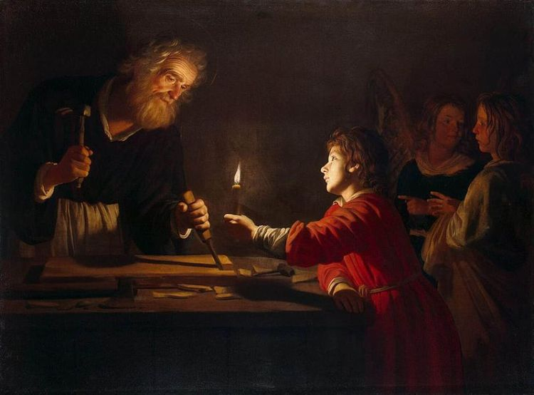 800px-Gerrit_van_Honthorst_-_Childhood_of_Christ_-_WGA11656