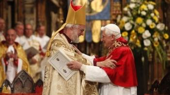 Pope Benedict XVI and Archbishop of Canterbury Rowan Williams