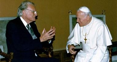 Pope St. John Paul II with Evangelist Billy Graham